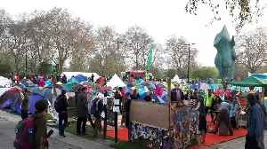 Extinction Rebellion protesters camp out at Marble Arch in London [Video]