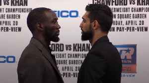 Amir Khan and Terence Crawford face off ahead of New York fight [Video]