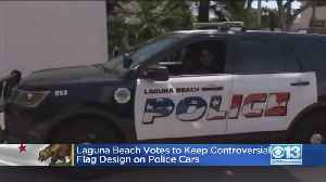 News video: Laguna Beach Police Cars Will Keep Flag On Logo