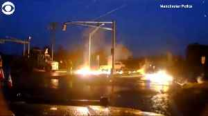WEB EXTRA: Utility Worker Escapes Flames [Video]
