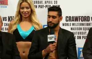 Amir Khan says he cannot make any mistakes in Crawford fight [Video]