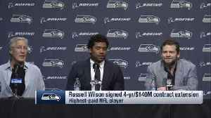 News video: Seattle Seahawks quarterback Russell Wilson's full contract extension press conference