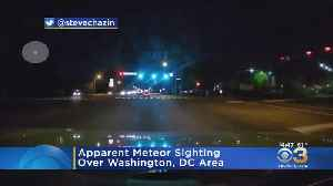 Washington, D.C. Man Catches Possible Meteor Shooting Across Sky On Video [Video]