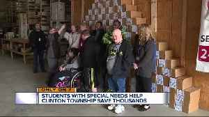 Special needs students honored for project that saved Clinton Township taxpayers $22,000 [Video]