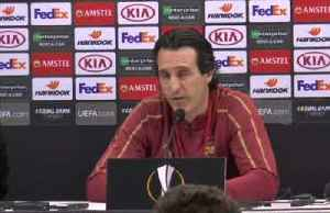 Emery says Arsenal won't sit back against Napoli [Video]