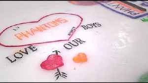VIDEO Lehigh Valley Phantoms giving fans chance to paint messages on the ice at PPL Center [Video]
