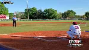 Coach Mark Mincher throws out first pitch [Video]