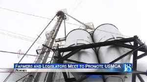 Farmers, legislators, and state leaders meet to promote USMCA [Video]