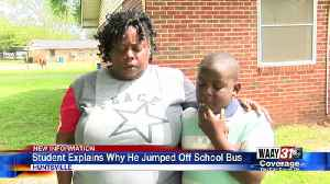 Student Explains Why He Jumped Off School Bus [Video]