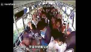 Old Chinese man sits on toddler to force him to give up seat on bus [Video]