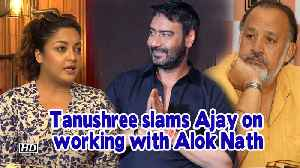 Tanushree slams Ajay Devgn for working with Alok Nath | De De Pyaar De [Video]