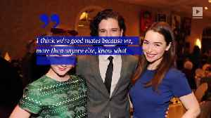 Kit Harington Describes 'Breathtaking' Moment He Met Emilia Clarke [Video]