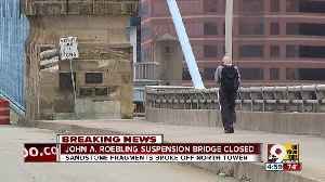 Roebling suspension bridge closed after pieces fall from north tower [Video]
