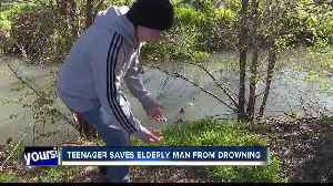 'He really saved me,' 14-year-old Nampa boy rescues elderly man who fell into a canal [Video]