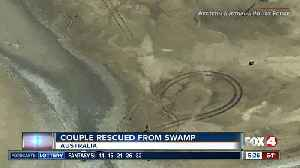 Couple rescued after spending over night in crocodile marsh [Video]