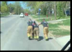 Firefighters Push Veteran Home After Motorized Wheelchair Dies [Video]