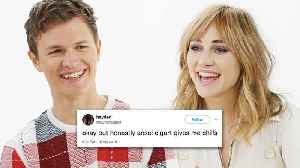 Ansel Elgort & Suki Waterhouse Compete in a Compliment Battle [Video]