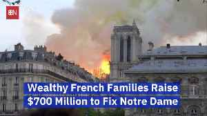 Billionaire Donors Want To Fix 'Notre Dame' With Large Donations [Video]