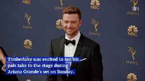 Justin Timberlake Supports His Coachella Friends [Video]