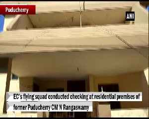 ECs flying squad conducts searh at former Puducherry CM N Rangaswamys residence [Video]