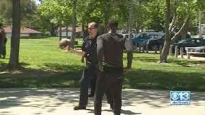 Police Officers Play Basketball With Kids At Park [Video]