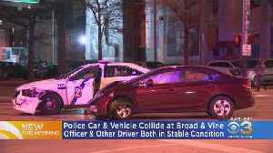 Police Car, Vehicle Collide In Center City [Video]