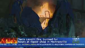 Tesla Vehicle Fire Under Investigation [Video]