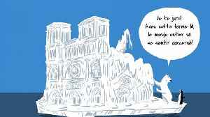 Viral climate cartoon uses satire to question Notre Dame donations | #TheCube [Video]