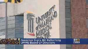 News video: Governor Signs Bill Reforming UMMS Board Of Directors