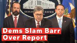 News video: Democrats Blast William Barr's Mueller Report Press Conference