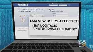 News video: Facebook Admits It 'Unintentionally Uploaded' Email Contacts Of New Users