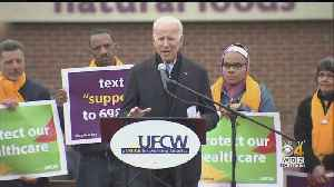 'Keep It Going!' Joe Biden Rallies Striking Stop & Shop Workers In Dorchester [Video]