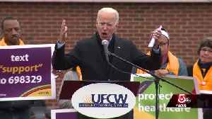 Former VP Joe Biden takes aim at Stop & Shop, supports striking union workers [Video]