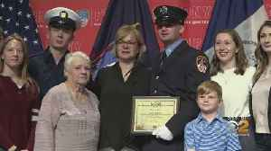 Son Of 9/11 Firefighter Follows In Father's Footsteps [Video]