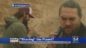 Trending: Jason Momoa Shaves Beard [Video]