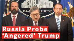 News video: Barr: The President Was 'Frustrated And Angered' By Mueller Russia Investigation