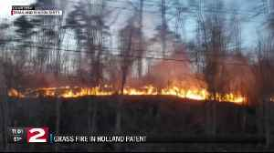 Grass fire in Holland Patent [Video]