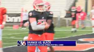 Blacks beats Orange in Georgetown College Spring Football game [Video]