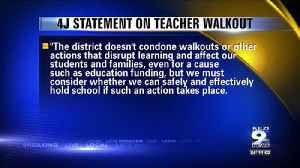 Eugene 4J: Teacher walkout could cancel classes on May 8 [Video]