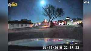 Look UP! Police Dashcam Captures Falling Meteor That Lights Up The Sky! [Video]