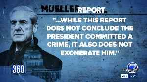 Mueller report unable to conclude 'no criminal conduct occurred', read full report here [Video]