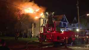 Cleveland firefighters battle house fire early Friday morning [Video]