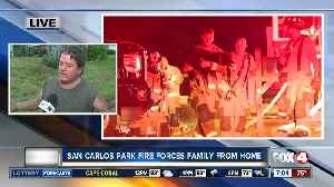 House fire in San Carlos Park forces family from home [Video]