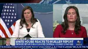 Sarah Sanders answers about her comments on FBI agents [Video]