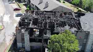 Drone video of apartment fire [Video]
