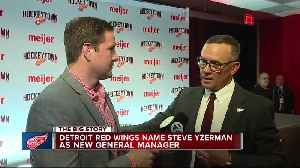 Red Wings name Steve Yzerman new General Manager [Video]