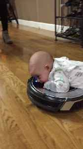 Robot Vacuum Tummy Time [Video]