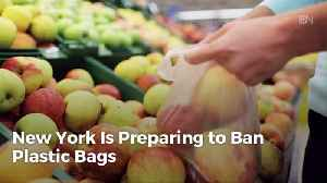News video: Say Goodbye To Plastic Bags In New York