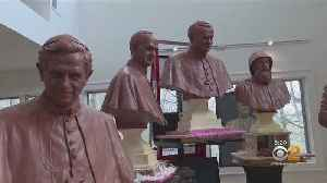 Sculptures Of Past Popes Created By NJ Woman On Display [Video]