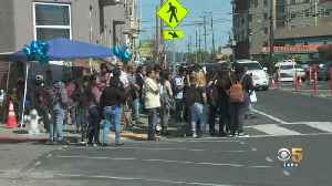 Hundreds Gather at Oakland Intersection Where Mom and Son Died [Video]